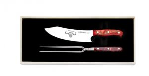 "Giesser ,""Premium Cut"", 2 Piece Carving Set, - Red Diamond Handle,(1997 2 rd)"